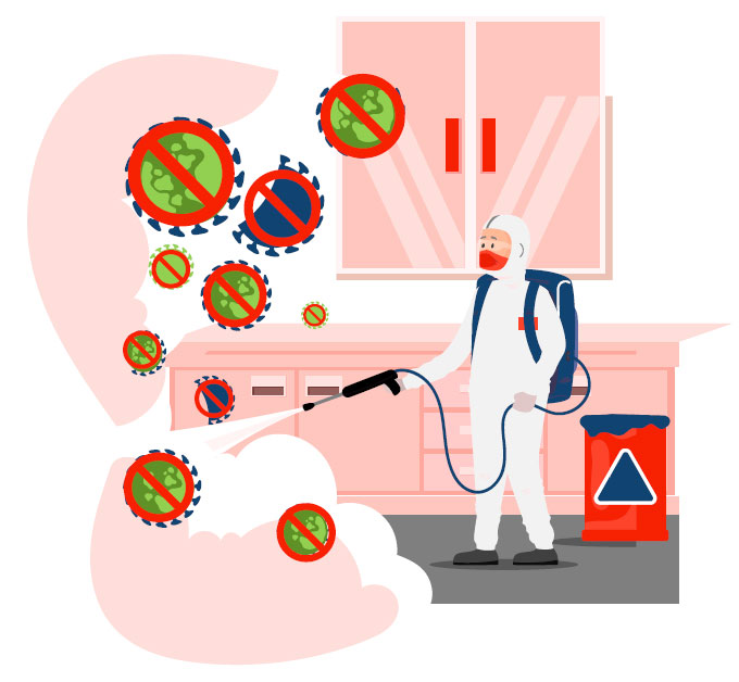 coronavirus sanitisation, london